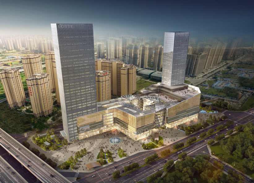 四川省成都市乐天广场办公楼及酒店塔楼幕墙工程